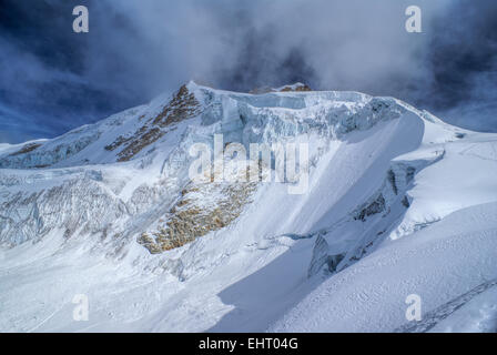 Amazing view of Huayna Potosi mountain in Bolivia - Stock Photo