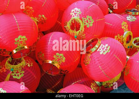 Bulk of Chinese Red Lanterns - Stock Photo
