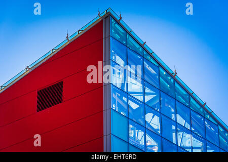Architectural details at the National Aquarium in Baltimore, Maryland. - Stock Photo