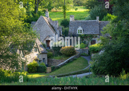 Arlington Row - cottage homes originally built for the local weavers, Bibury, Glocestershire, England - Stock Photo