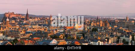 Dawn over Edinburgh, Lothian, Scotland - Stock Photo