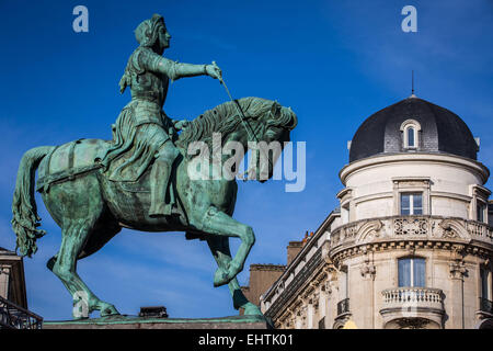 ILLUSTRATION OF THE CITY OF ORLEANS, (45) LOIRET, CENTRE, FRANCE - Stock Photo