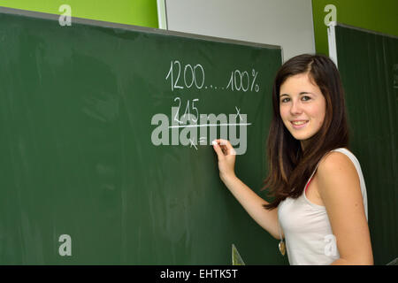 Expects the student to school board - Stock Photo