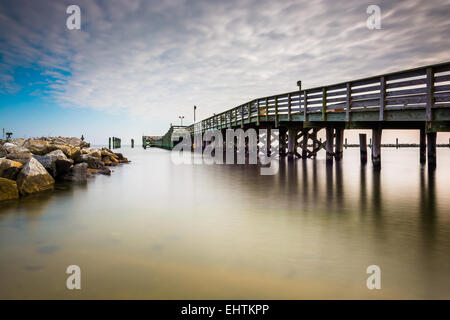 Fishing pier and jetty in chesapeake beach maryland stock for Maryland fishing piers