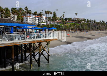 San Clemente Pier, San Clemente, CA, and surrounding area - Stock Photo
