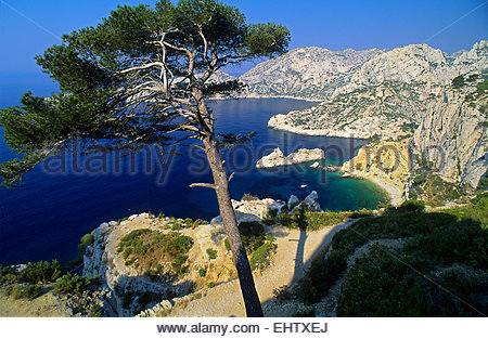 NATIONAL PARK OF THE CALANQUES, BOUCHES-DU-RHONE (13), PACA, FRANCE - Stock Photo