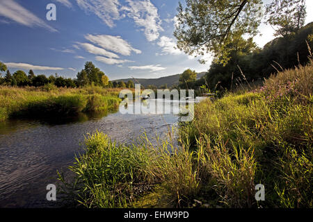 The river Ruhr in Arnsberg in Germany. - Stock Photo