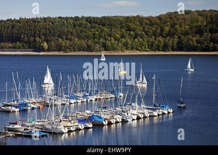 The Sorpesee in Sundern in Germany. - Stock Photo