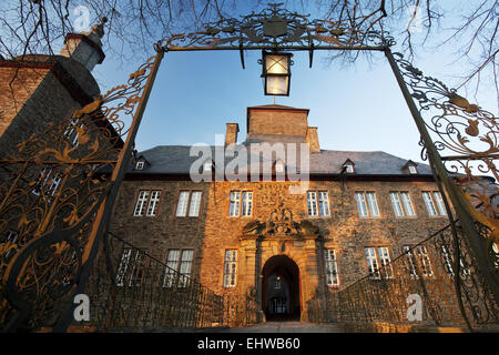 The Schnellenberg castle in Attendorn. - Stock Photo