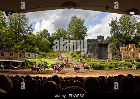 Karl May Games at Elspe Festival. - Stock Photo