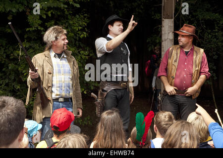 Karl May Games at Elspe Festival. - Stock Photo