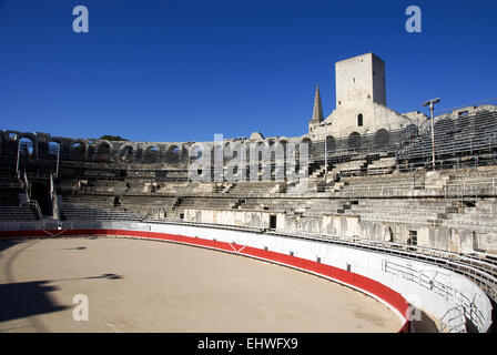 Roman Amphitheatre Arles, Provence, France - Stock Photo