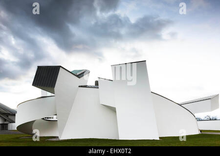 Germany, Weil am Rhein, view to Vitra Design Museum at evening light - Stock Photo