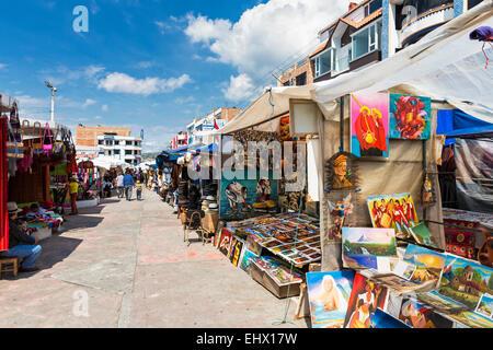 South America, Ecudador, Imbabura Province, Otavalo, Market - Stock Photo