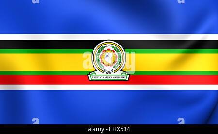 East African Community Flag. Close Up. - Stock Photo