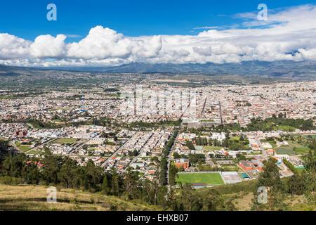 South America, Ecudador, Imbabura Province, View to Ibarra - Stock Photo