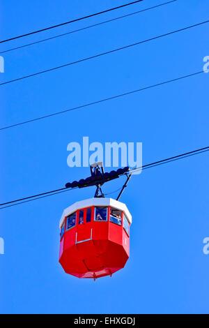 Cable car. Barcelona, Catalonia, Spain. - Stock Photo