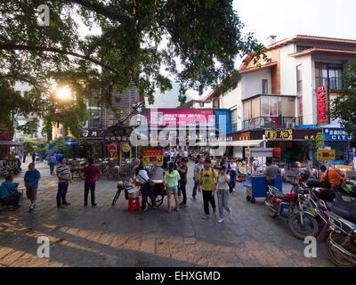 Street scene in Yangshuo, China - Stock Photo