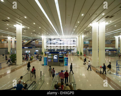Pudong international airport in Shanghai, China - Stock Photo