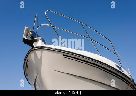 Bow of a boat with an anchor - Stock Photo
