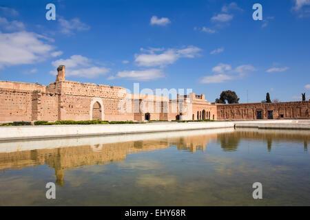 El Badi Palace or Palais El Badii in Marrakech, Morocco. - Stock Photo
