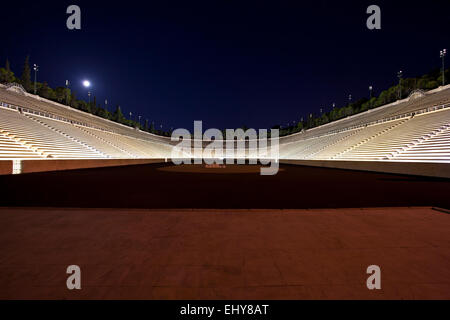 The Panathenaic Stadium in Athens, Greece. - Stock Photo