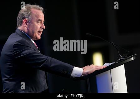Washington, DC, USA. 17th Mar, 2015. James Hogan, President and CEO, Etihad Airways, speaks at the 14th annual U.S. - Stock Photo