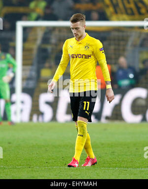 Dortmund, Germany. 18th Mar, 2015. Marco Reus (Borussia Dortmund) disappointed during the Champions League match - Stock Photo