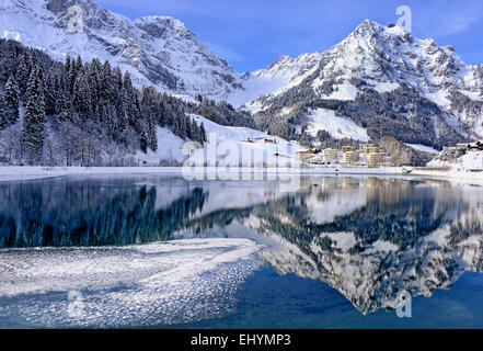 Lake, Eugenisee, Engelberg, Switzerland - Stock Photo