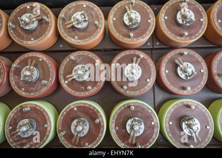 England, Buckinghamshire, Bletchley, Bletchley Park, Drum Detail of, Turing Bombe, decipher, decode, decrypt, Rebuild - Stock Photo
