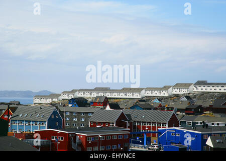 Buildings in Nuuk, Greenland - Stock Photo