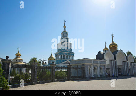 Asia, Uzbekistan, Central Asia, silk road, outside, day, building, construction, architecture, church, Christianity, - Stock Photo