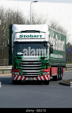 Eddie Stobart Scania articulated lorry at DIRFT, Daventry, UK - Stock Photo