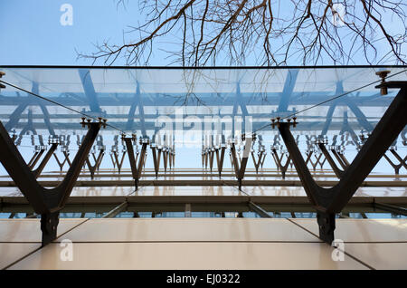Glass Curtain Wall on Building in Lisbon - Portugal - Stock Photo