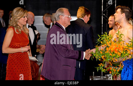 Copenhagen, Denmark. 18th Mar, 2015. Queen Maxima and Prince Henrik attend the Dutch Culture Night as part of the - Stock Photo