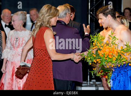 Copenhagen, Denmark. 18th Mar, 2015. Queen Maxima attend the Dutch Culture Night as part of the Dutch state visit - Stock Photo