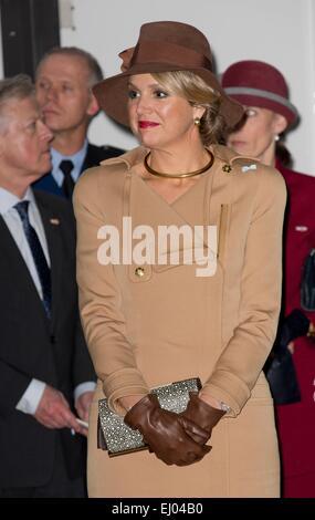 Copenhagen, Denmark. 18th Mar, 2015. Queen Maxima of The Netherlands visits Bispebjerg Hospital in Copenhagen, Denmark, - Stock Photo