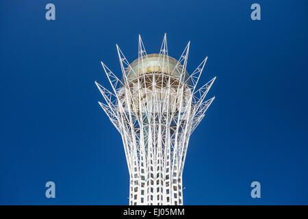 Astana, Bayterek, City, Kazakhstan, Central Asia, Monument, New City, Nurzhol, architecture, no people, skyline, - Stock Photo