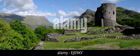 Dolbadarn Castle,  Llanberis, Snowdonia, Gwynedd - Stock Photo