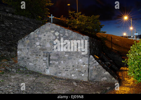 St Trillo`s Church, Rhos on Sea, North West Wales, UK - Stock Photo