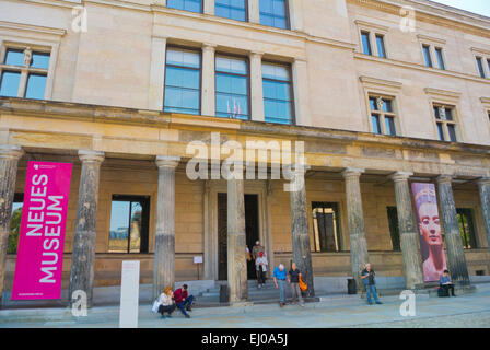 Neues Museum, Museumsinsel, the museum island, Mitte district, central Berlin, Germany - Stock Photo