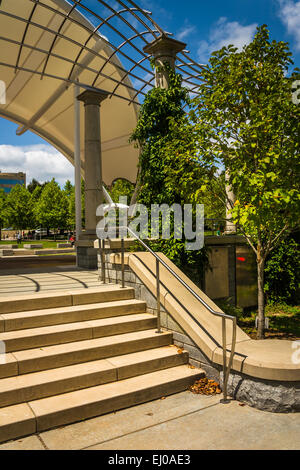 Stairs at Pack Square Park in Asheville, North Carolina. - Stock Photo