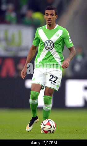Wolfsburg, Germany. 15th Mar, 2015. Wolfsburg's Luiz Gustavo in action during the Bundesliga soccer match VfL Wolfsburg - Stock Photo