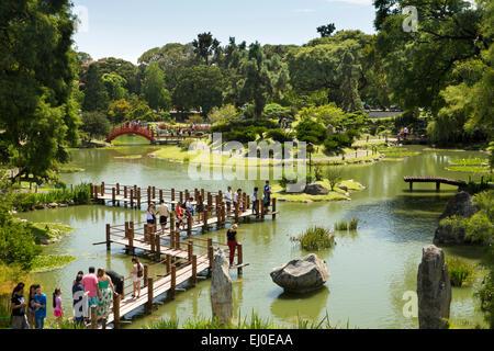 argentina buenos aires retiro japanese garden jardin japones stock photo