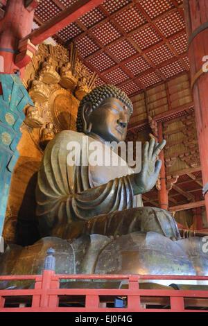 world heritage, City, Japan, Asia, Kansai, Nara, Temple, Todai-ji, architecture, big, daibutsu, fall, history, religion, - Stock Photo