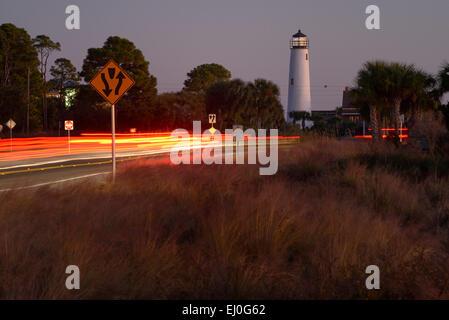 USA, Florida, Franklin County, Gulf of Mexico, Apalachicola, St. George Island - Stock Photo