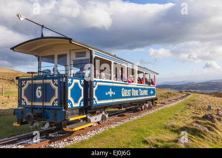 Wales, Llandudno, Great Orme Tram - Stock Photo
