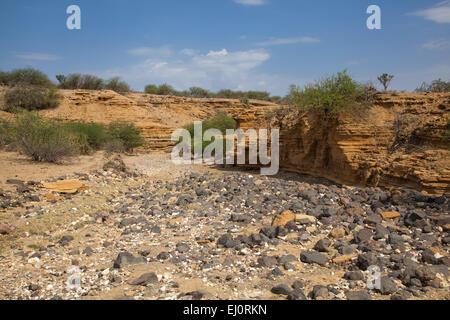 Africa, scenery, landscape, travel, Rift Valley, Tanzania, East Africa, desert - Stock Photo