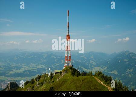 1738, Alps, architecture, view, outside, view, building, Bavarian, Bavaria, mountain, mountainous, mountain landscape, - Stock Photo