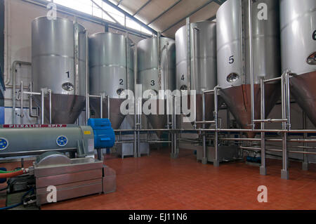 Oil mill factory Asuncion and San Jose, Rus, Jaen province, Region of Andalusia, Spain, Europe - Stock Photo